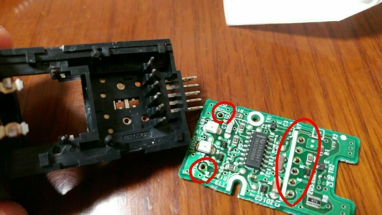 余り物LED使用 プッシシュスタートスイッチ LED打ち換え その1