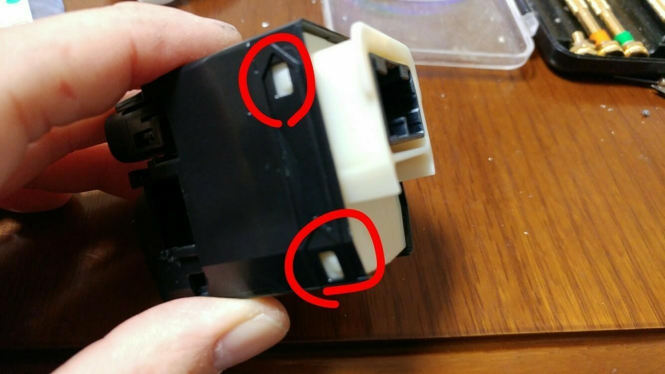 余り物LED使用 ミラースイッチ 打ち換え
