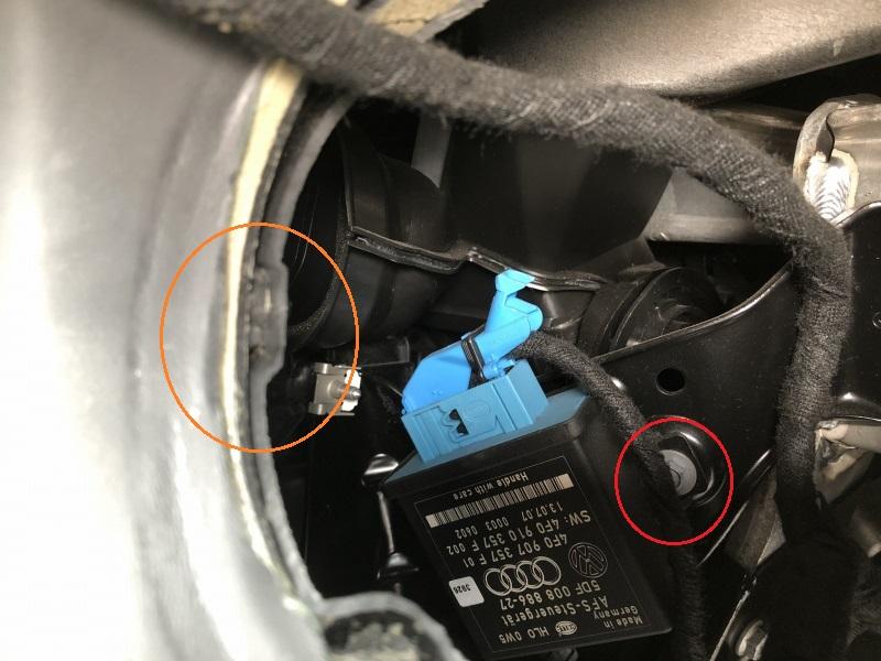 TTの内装外し・ダッシュボード下部