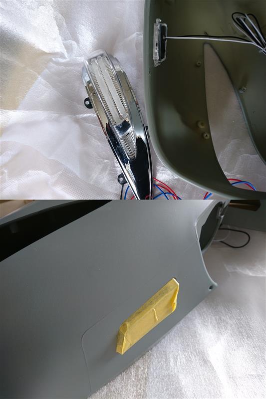 失敗作 ウインカー付きドアミラーカバー塗装してみた(笑)