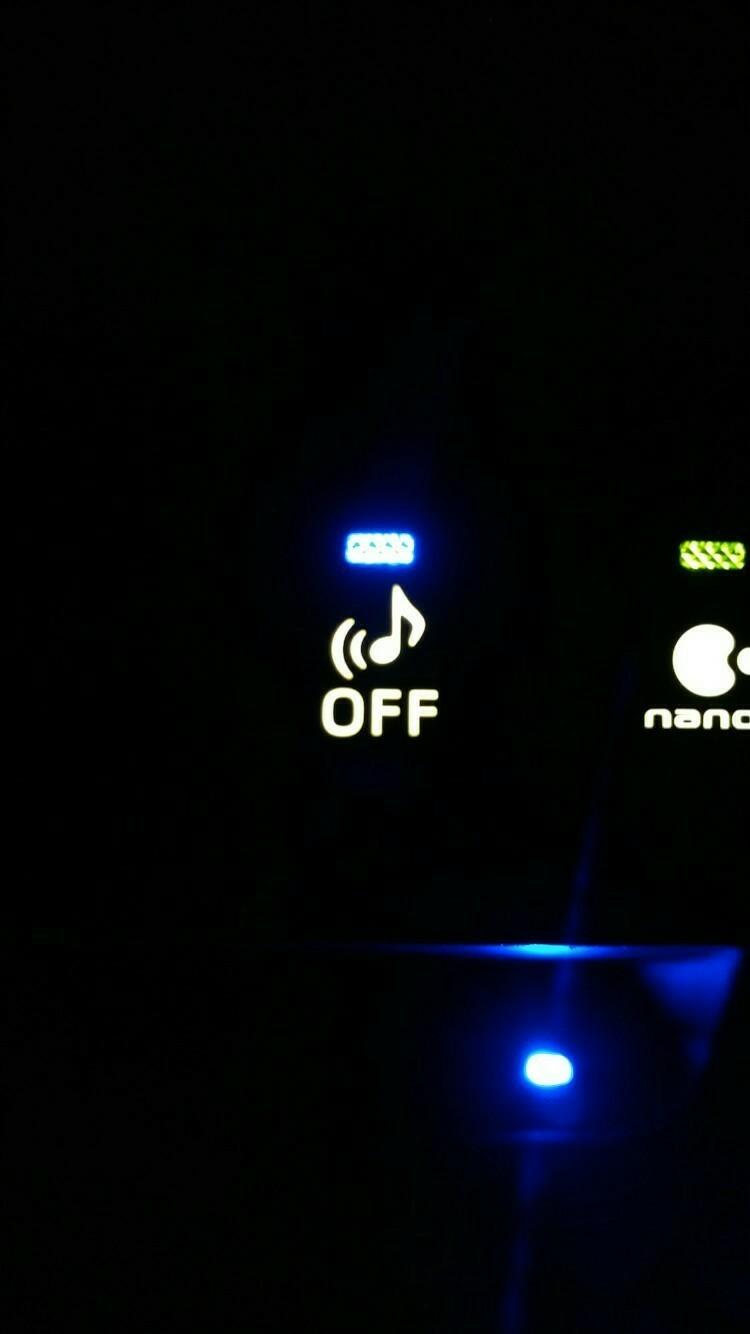 余り物LED使用 車両近接通報装置OFFスイッチ 打ち換え