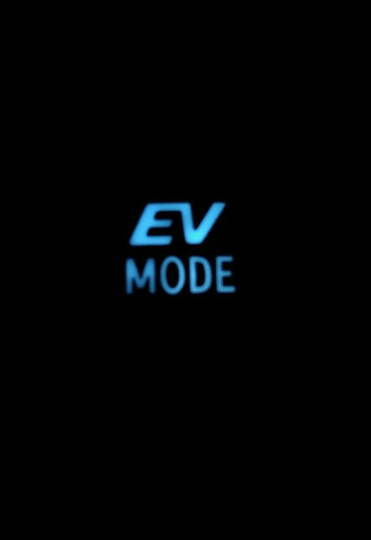 余り物LED使用 センターパネル周り 打ち換え(EV MODE スイッチ)