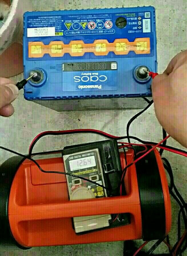 新潟搬送前に、バッテリー補充電