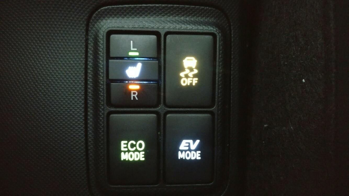余り物LED使用 センターパネル周り 打ち換え(TRC OFFスイッチ)