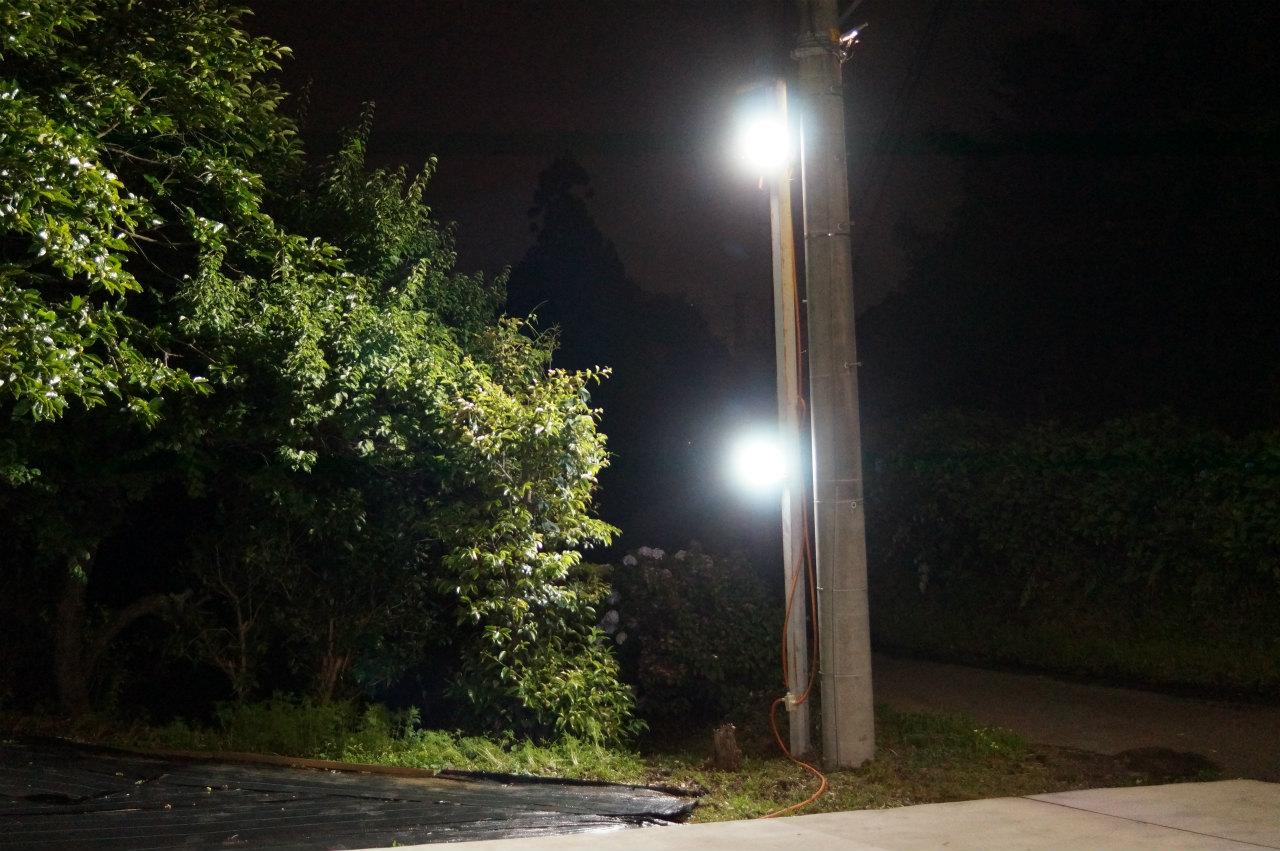 LED投光器増設完了^^