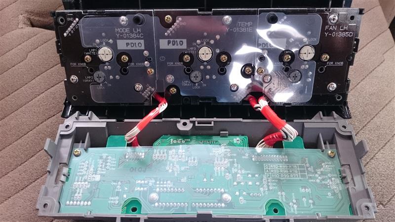 エアコン操作パネル イルミネーション電球交換