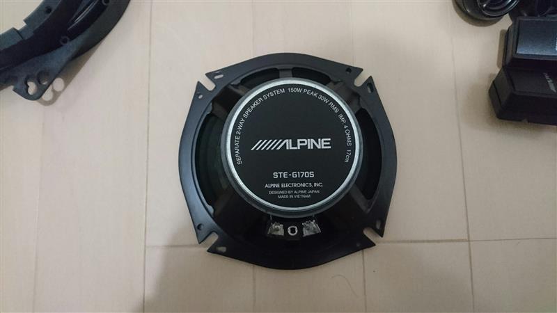 ALPINE STE-G170S取り付け①