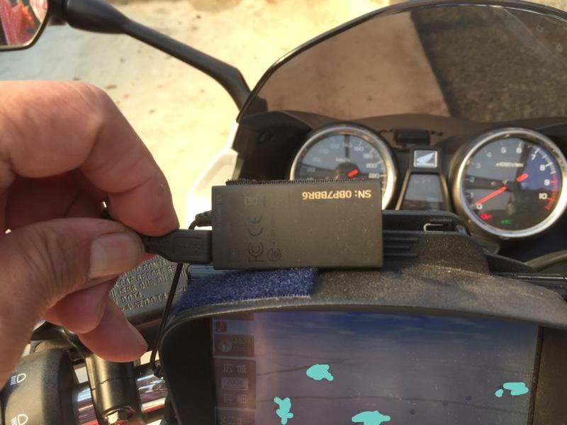 バイクにナビ付けてます。