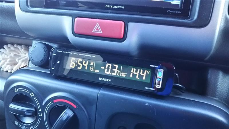 NAPOLEX 電波時計+内外気温計+電圧計
