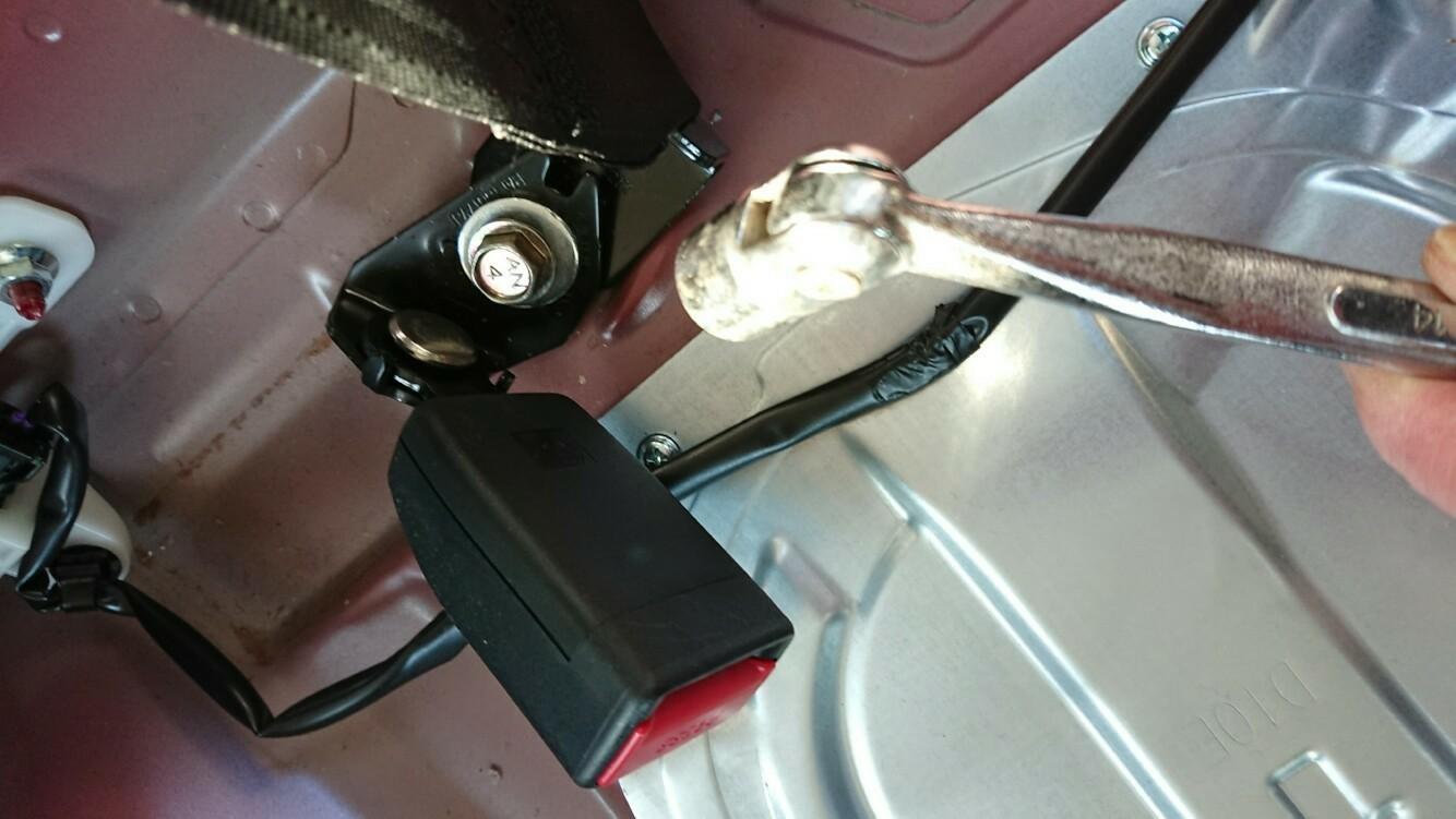 Clazzioダイヤ・ブラック&ホワイトステッチ取り付け。