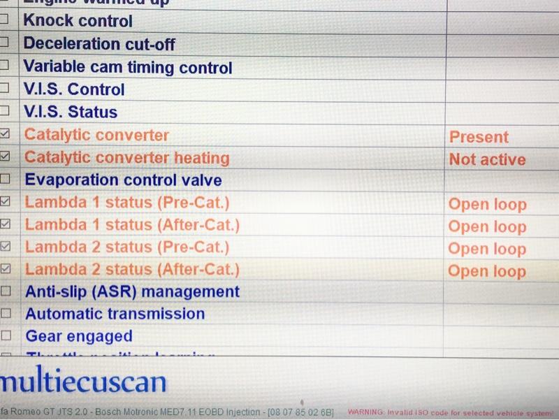 multiecu scan check