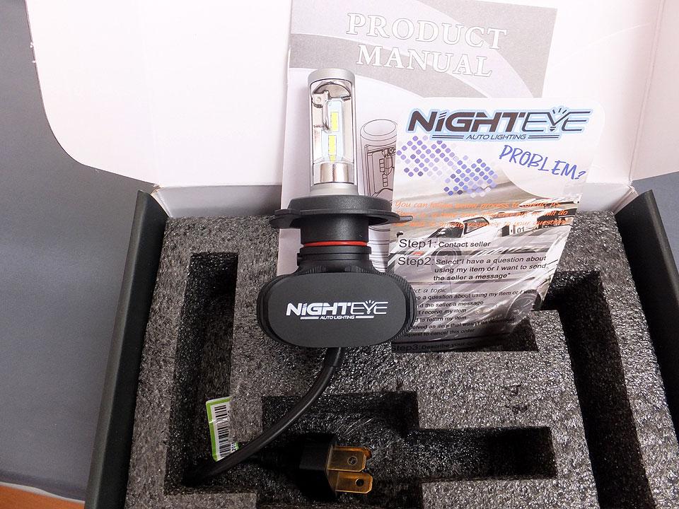 NIGHTEYE製 LEDヘッドライトバルブ取付。