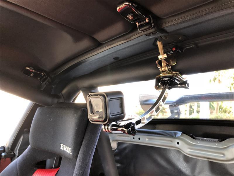 車載ビデオカメラ用ステー設置