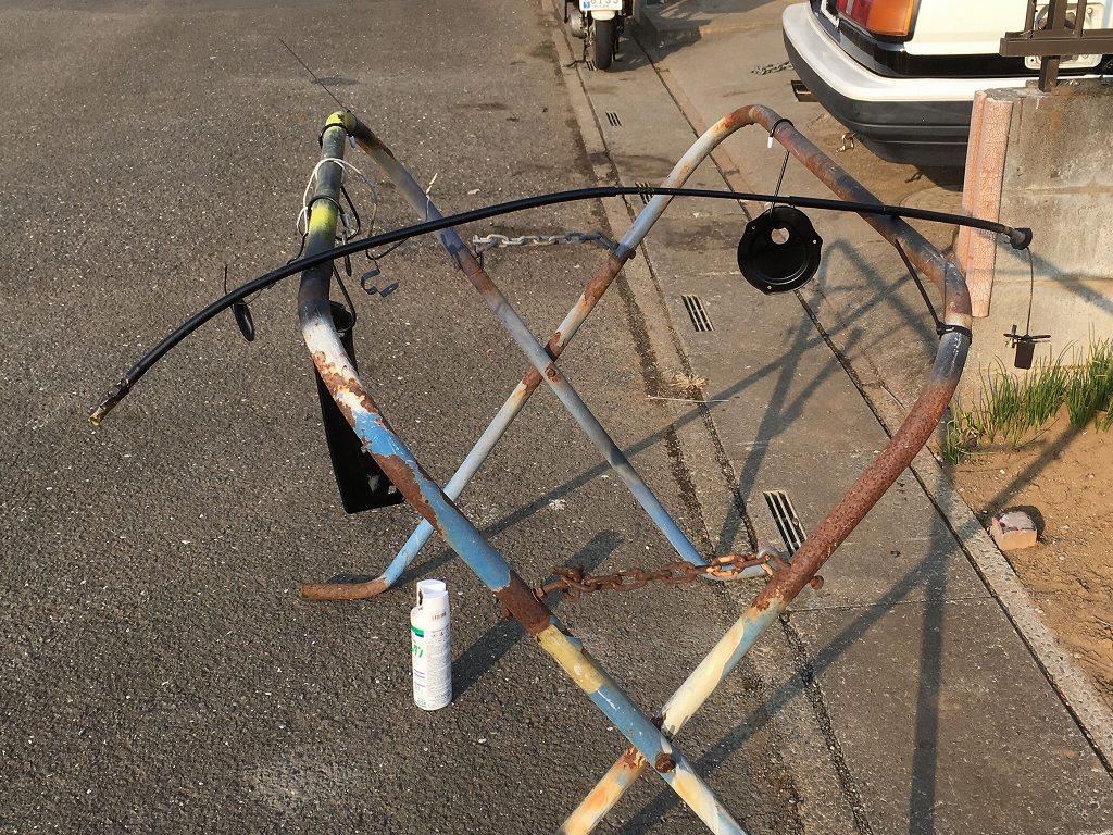 AE86制作プロジェクト28~燃料タンク周辺部品塗装