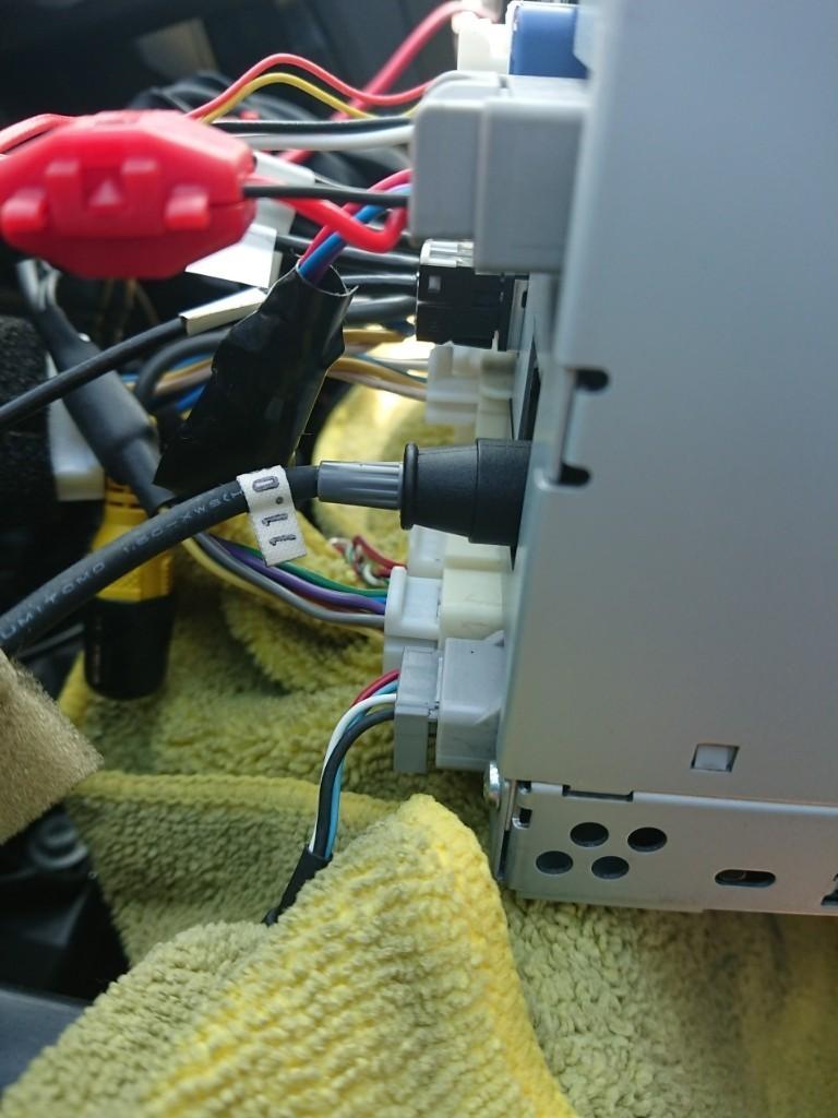 DOPナビ やんちゃ配線&音声認識マイク&VICSビーコンユニットよくばり3点セット 取り付け