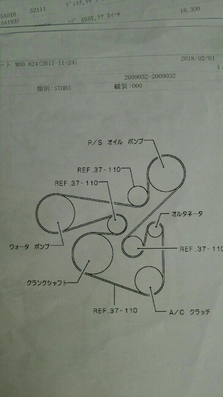ベルト交換  2  (^o^)