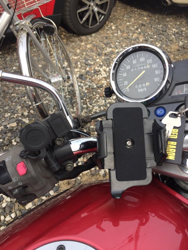 スマホ固定台取り付け・充電ソケット設置