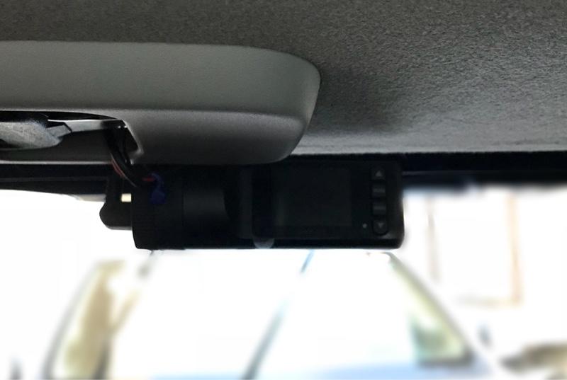 リア用ドライブレコーダー設置