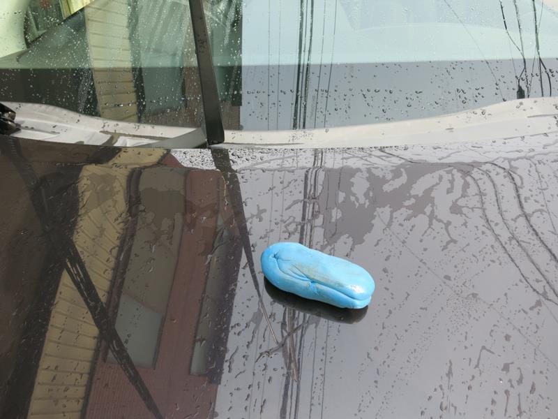 洗車と鉄粉除去