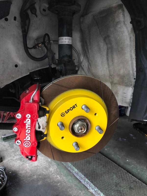 Dスポ ブレーキローターR+パッドコンディション+ブレーキホース
