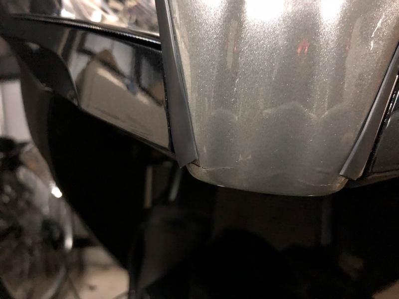 ZX-6R Styleウィンドシールド 塗装ひび割れ