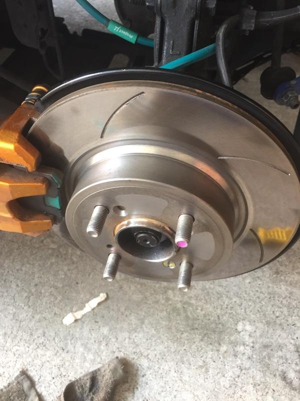 ブレーキローター耐熱塗装