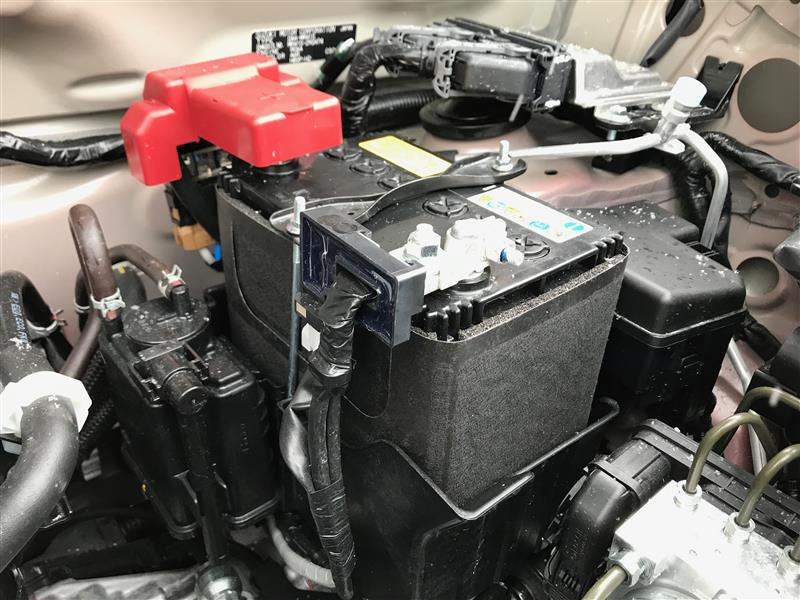 バッテリー保護カバー取り付け