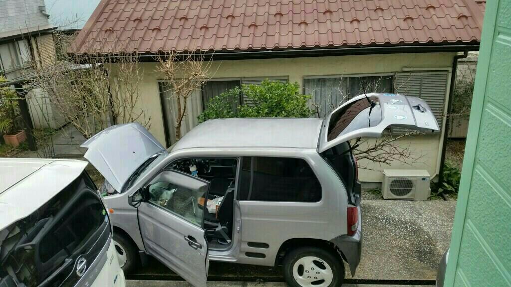 新潟からの洗車とoil交換