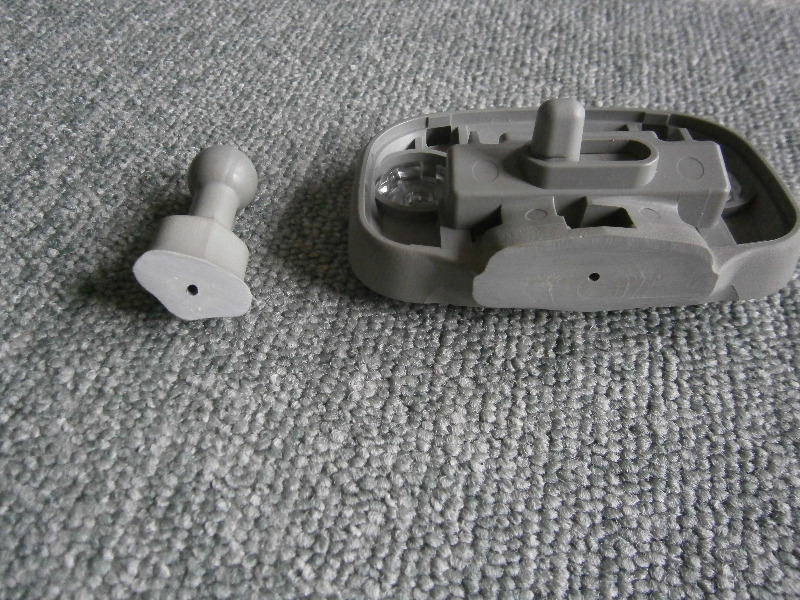 ルームミラーのショートカット加工