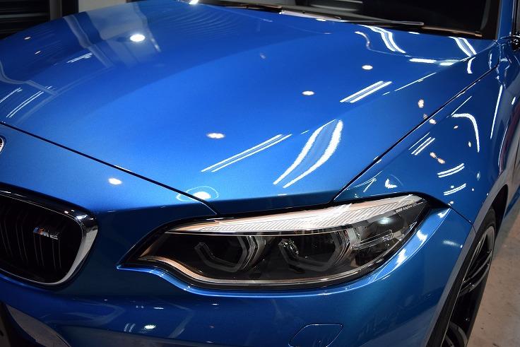 「迫力」BMW M2のガラスコーティング【リボルト神戸】