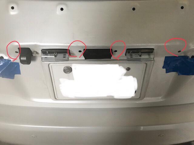 ◀︎ナンバー灯  ユニット交換型へ変更  【リアガーニッシュ脱着】