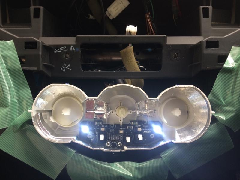 マニュアルエアコン照明LED化