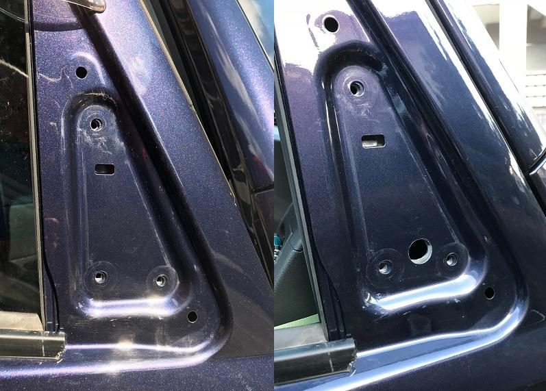 アトレーワゴンの電動格納ドアミラーと交換(part1)