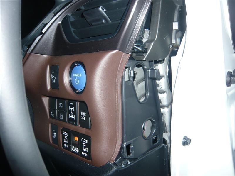 タイヤ空気圧監視警報システム+ドアロック+ハザードランプ取付 ①