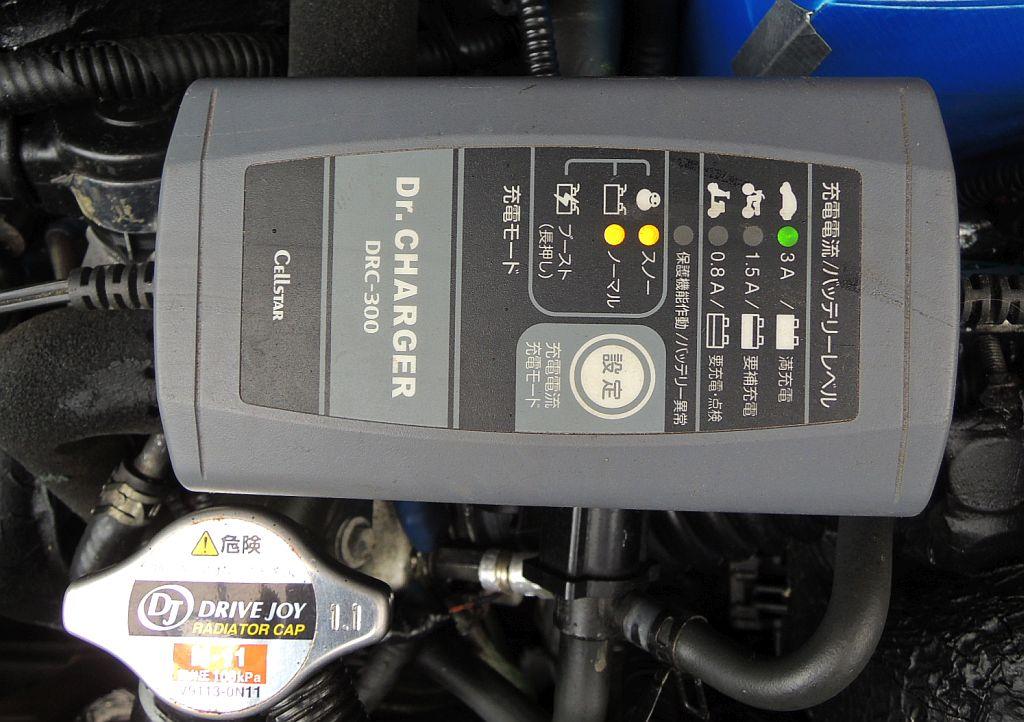 大ほげ研究室😊数年ぶりで直にバッテリー充電器つなぎ試し😋