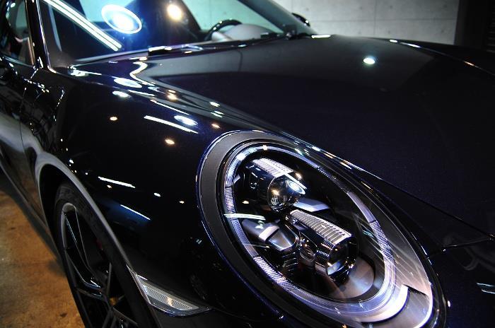 伝統と先進のスーパースポーツ。ポルシェ・911カレラSのガラスコーティング【リボルト川崎】