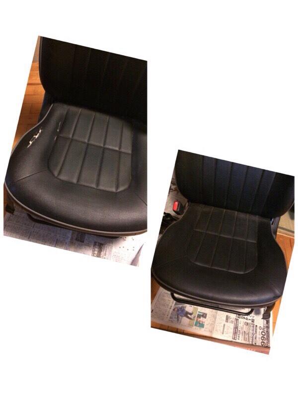 純正シート座面移植