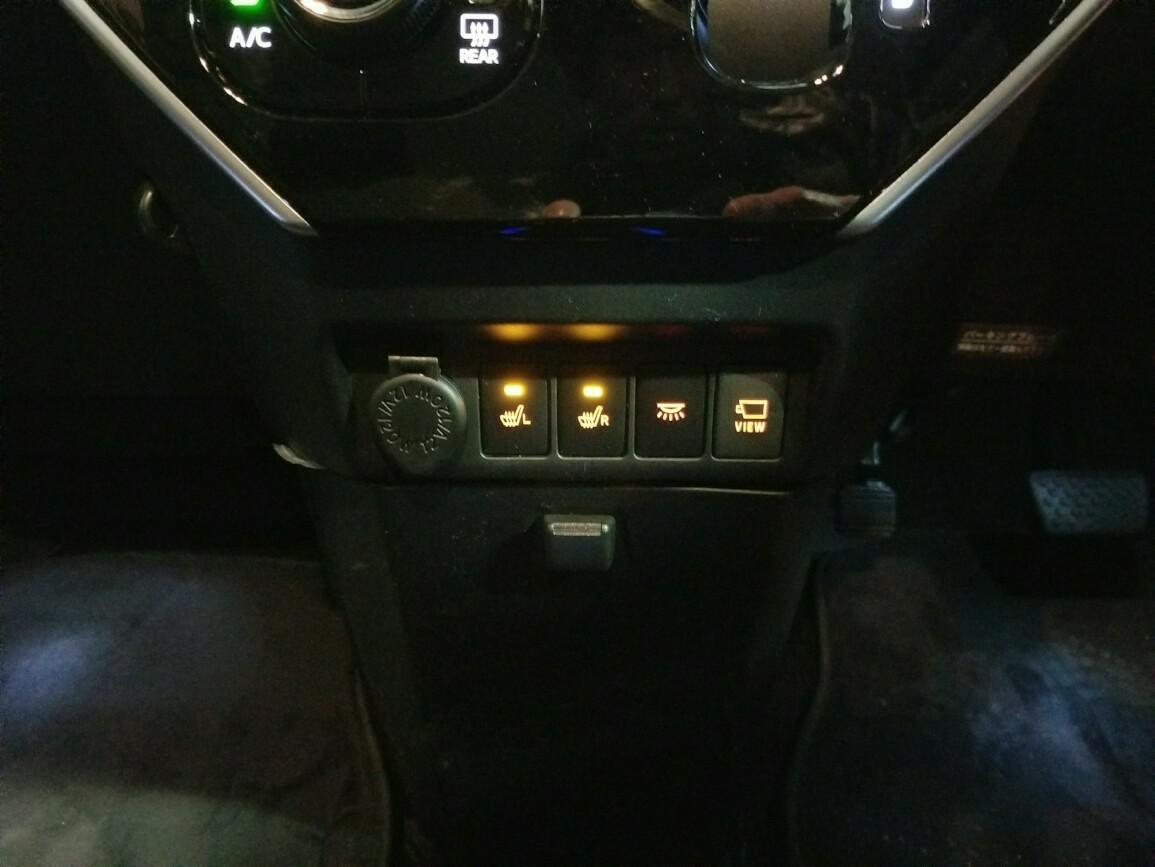 シートヒーター・イルミ・VIEWスイッチ LED打ち替え(*^^*) その1