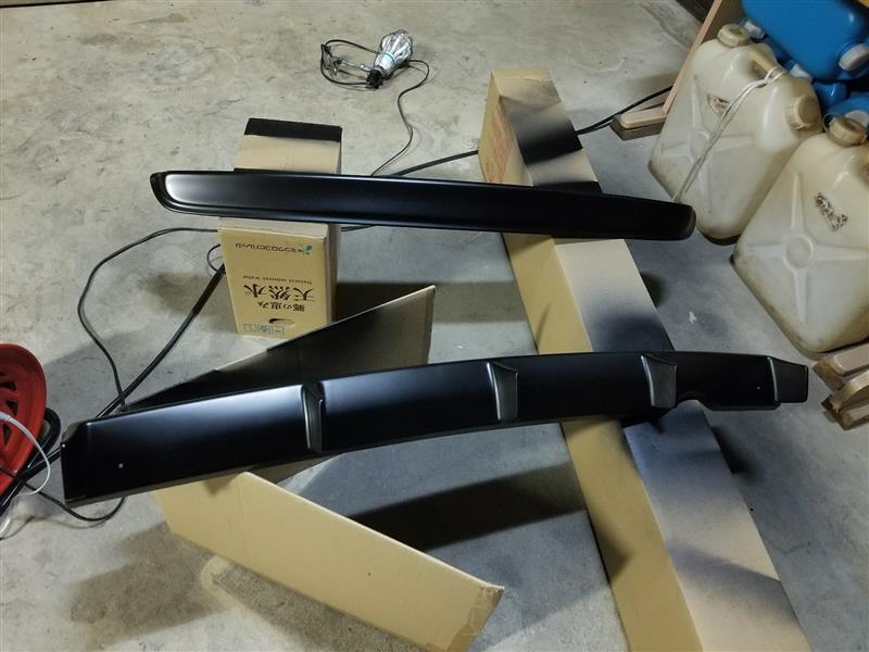 ラブラーク ウエストスポイラー&ディフューザー その2 塗装
