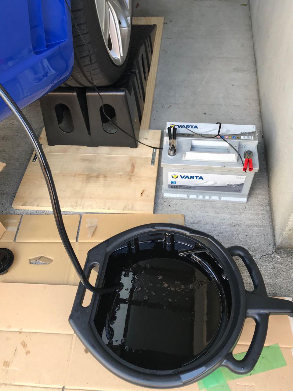 エンジンオイル交換 Mobil1 0W-40