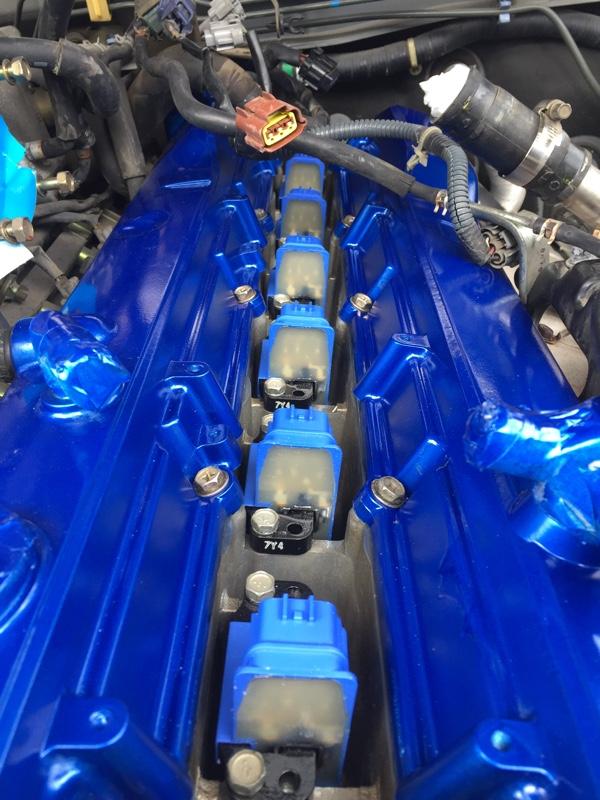 タペットカバーガスケット交換 塗装 イグニッションコイル プラグ交換2