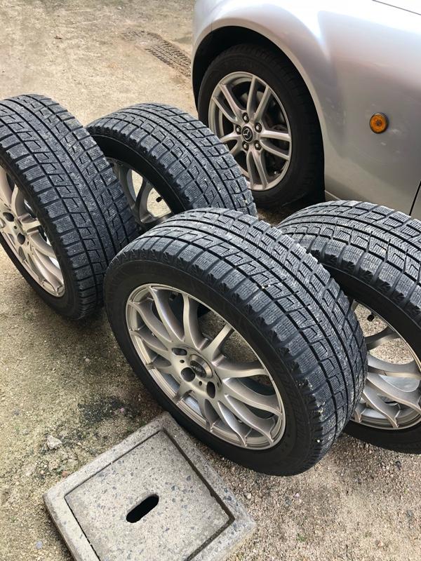 タイヤ交換と問題点発見