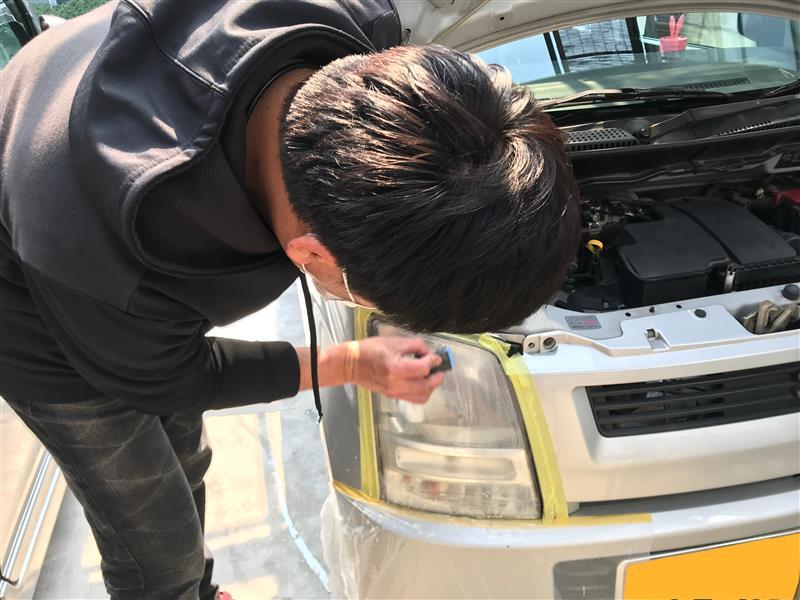 ミニ号ヘッドライト磨き【前編】