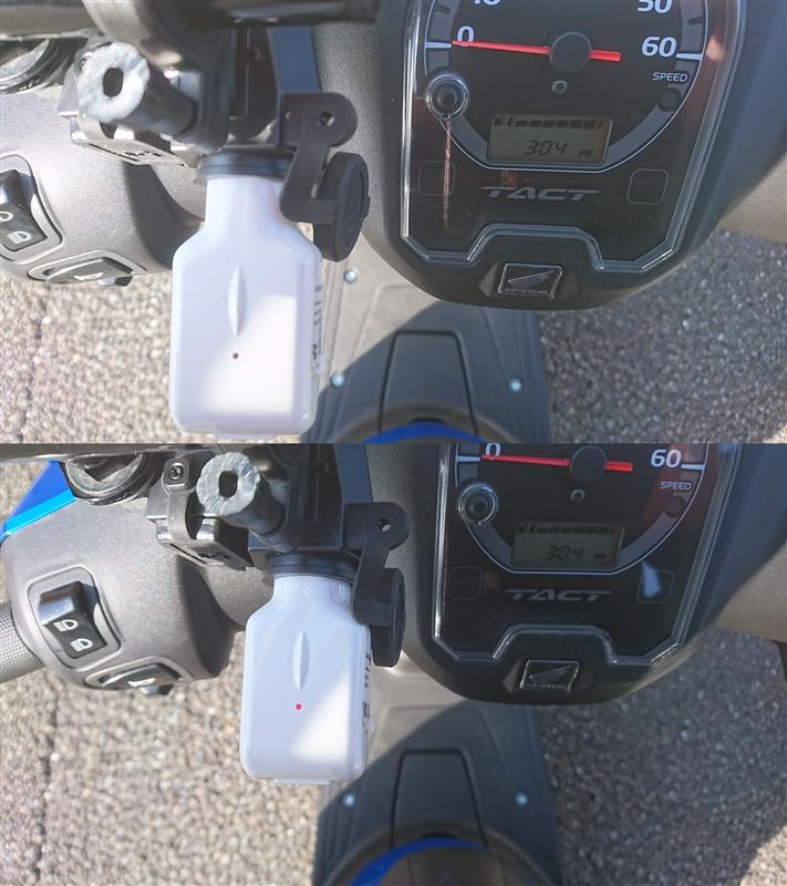 12V・USB用 電源の取付