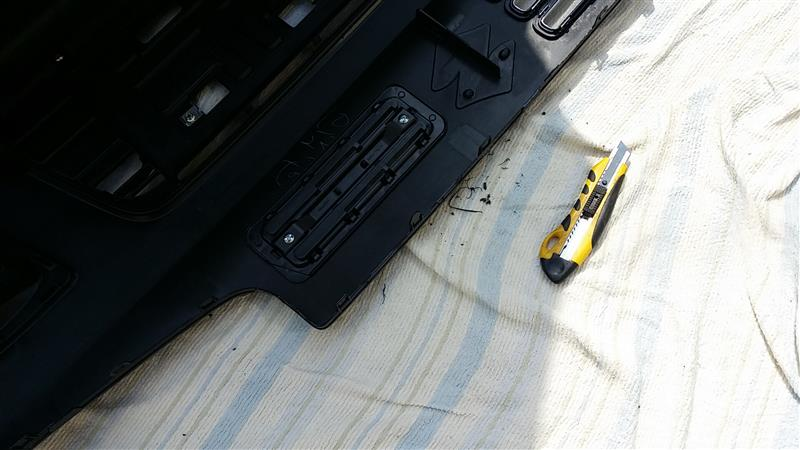 ワークスグリル取付、フォグベゼル塗装