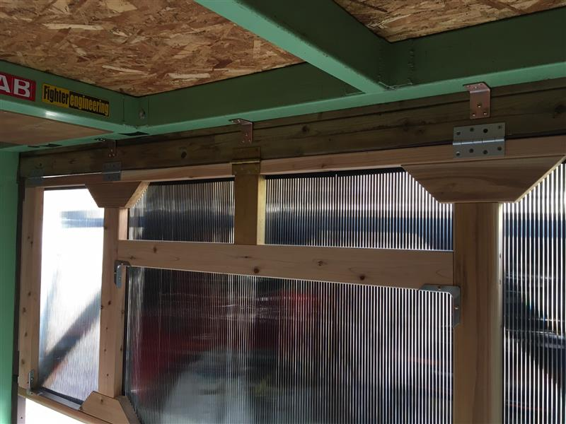 カプチーノ側車庫扉の使い方プラスちょっとだけ改良