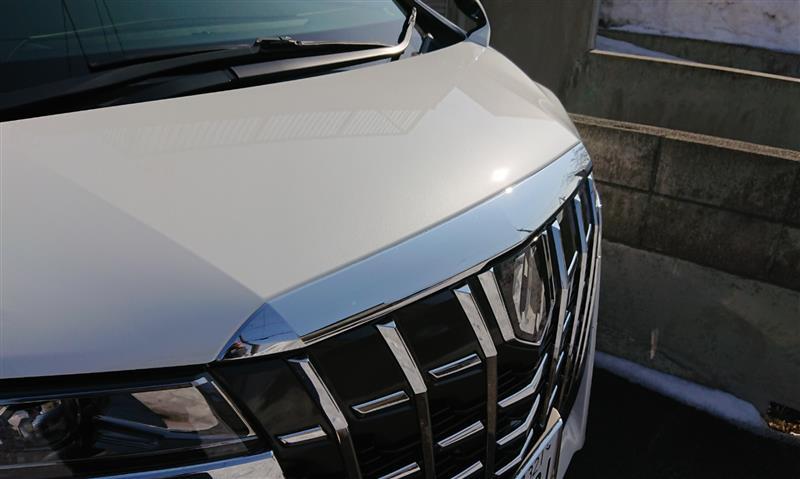 トヨタ純正メッキフードモール同色化