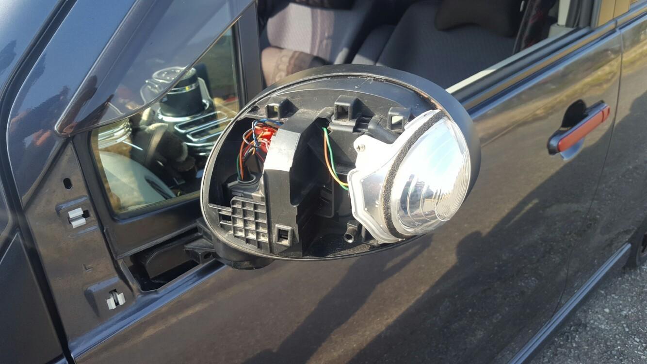 Door mirror turn signal LED change♪