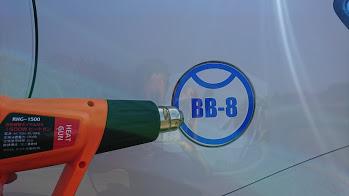 みなさん!こんばんは!BB-8ステッカー貼りました!笑!(^^♪