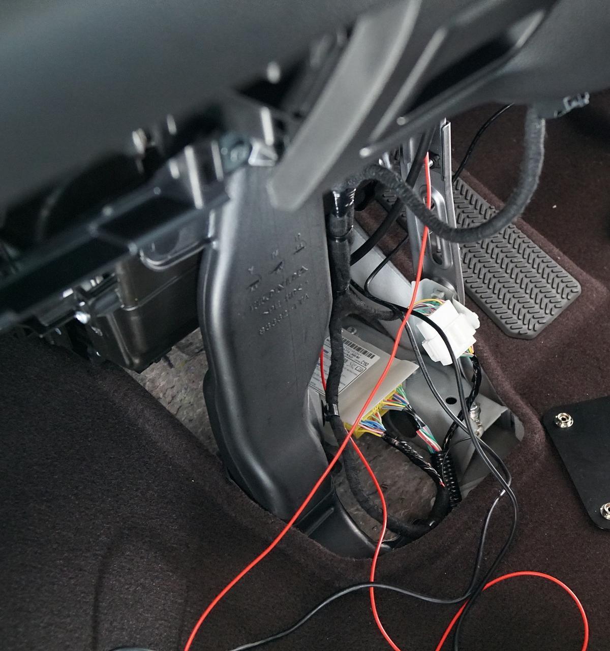 配線整理 と 電源取り